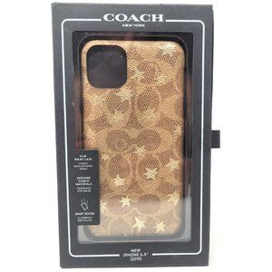 iPhone 11 Pro Max Coach Leather Wrap Case Khaki